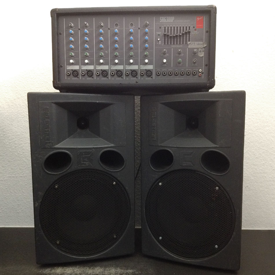 300w PA System for hire